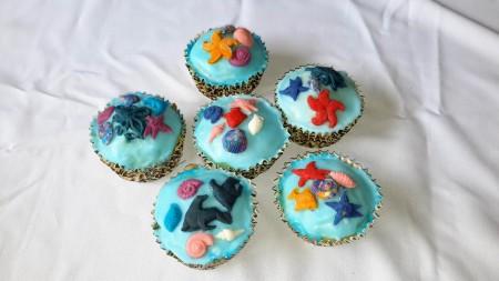 6 vegan marine themed cakes