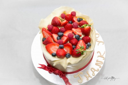 Surprise Strawberry Cake