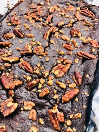 Vegan Beetroot and Pecan Brownies