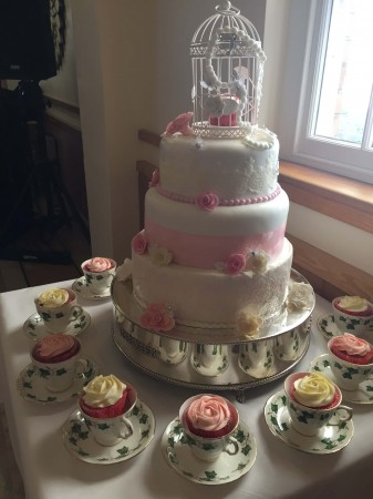 A Wedding Cake- pink  Example