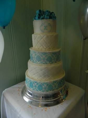 A Wedding Cake- Blue Example