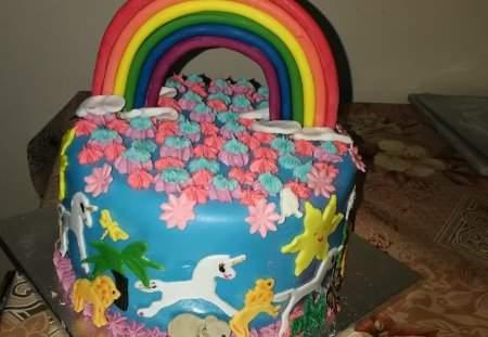 Birthday cakes- rainbow