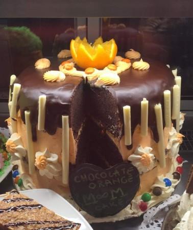 Chocolate and orange cake