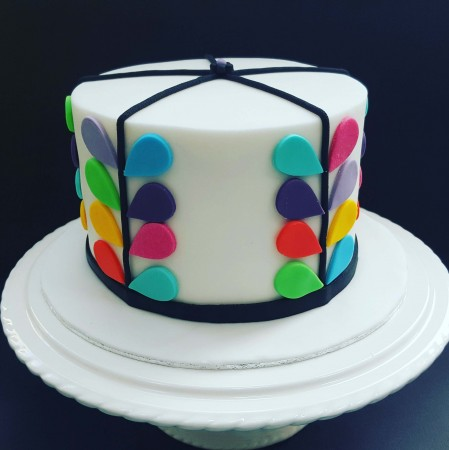 Orly Kiely Inspired Celebration Cake