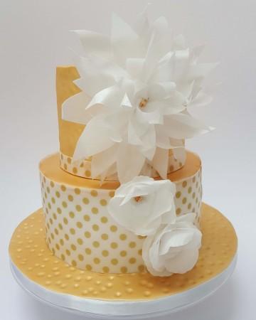 Golden celebration cake