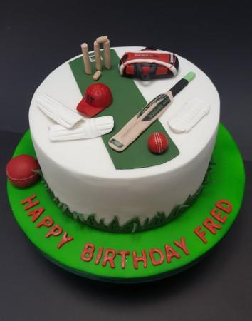 Cricket Celebration Cake