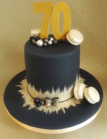 Black & gold celebration cake