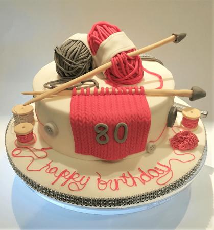 Nutty Knitter Cake