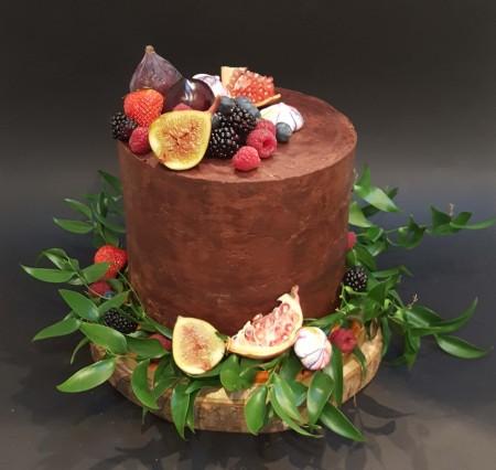 Autumn Fruits Chocolate Cake
