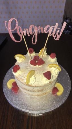 Lemon and Raspberry Meringue Cake