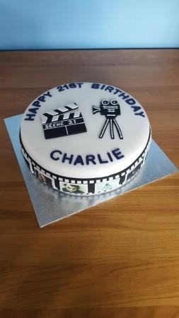Film themed cake