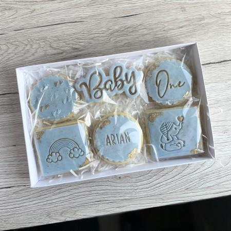 **Postal** Baby Cookies - Blue or Pink