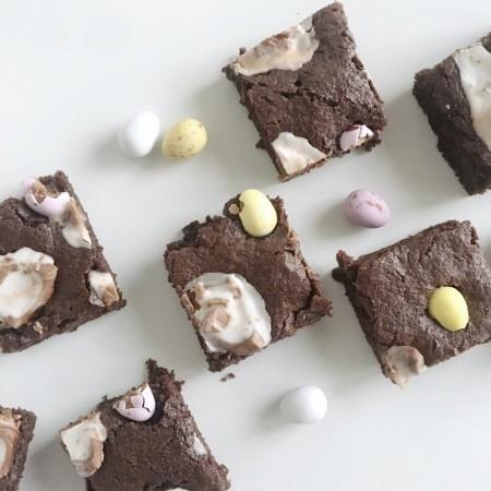 Postal Creme Egg Brownies