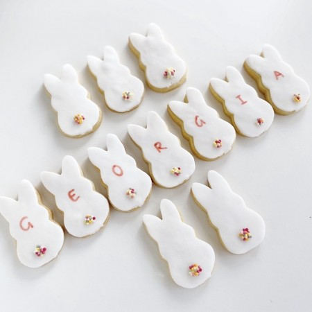 Postal Bunny Biscuits - Personalised