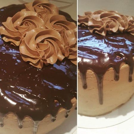 Triple Layer Chocolate Gateau with Chocolate Ganache Drip