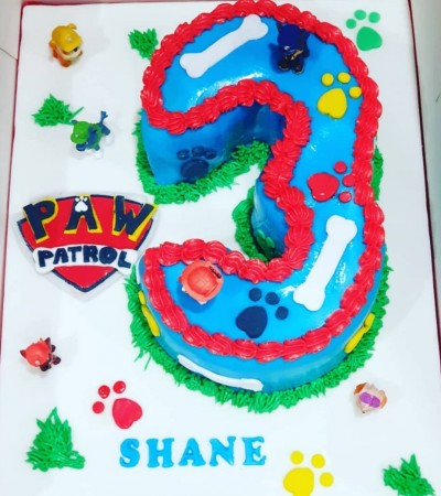 Paw Patrol Themed Number Cake