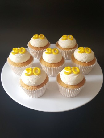 Simple Age Birthday/Celebration Cupcakes