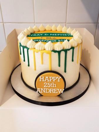 Dual Colour Drip Cake