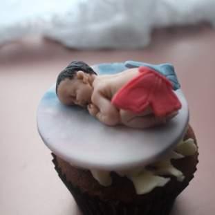 Celebration baby shower cupcakes