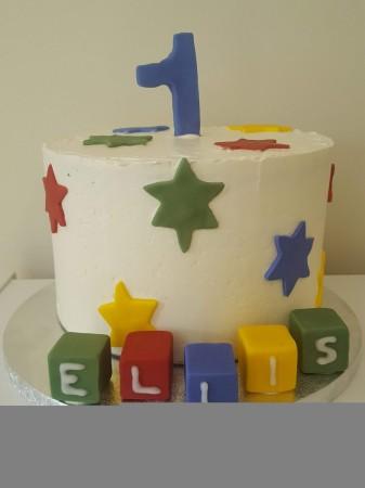 Child's birthday number cake