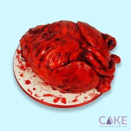 Human heart cake