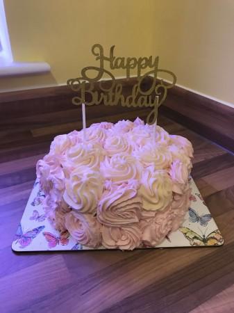 """8"""" Rose Cake"""