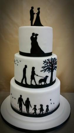 ref: 200716 Silhouette Cake