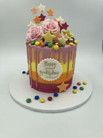 Colourful Buttercream Drip Cake