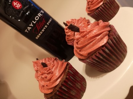 Chocolate Port Cupcakes