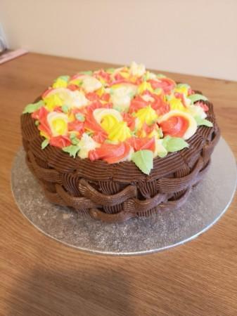 Mothers Day Basket Cake