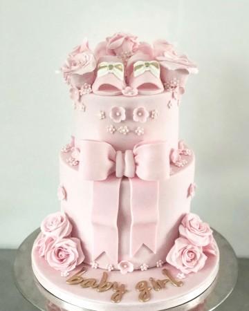 Baby shower Girl cake design