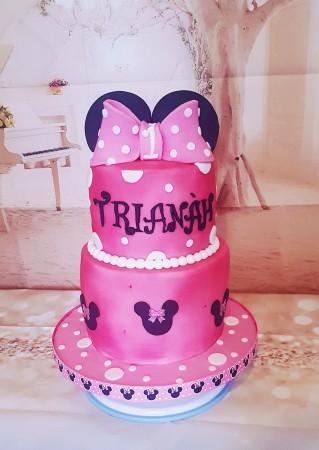 Mini mouse themed cake