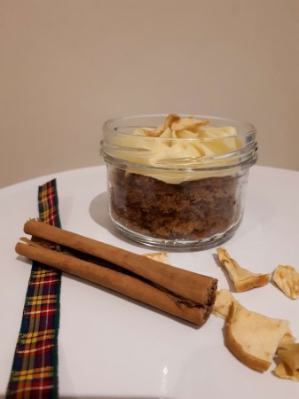 Apple Spice cake in a jar