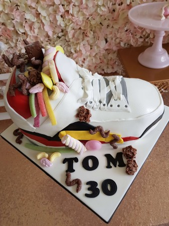 3D Carved Trainer Cake with Sweets