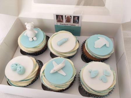Baby Boy Cupcakes
