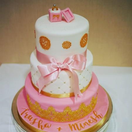 Wedding or engagement cake