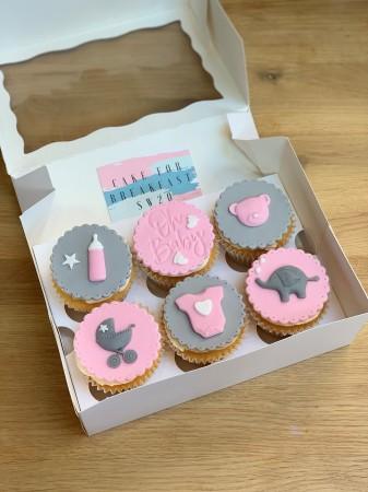 6 new baby fondant cupcakes