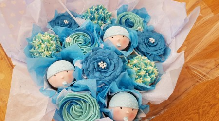 Cupcake Bouquet- baby blue or pink