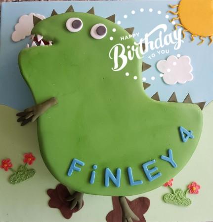 George's Dinosaur Cake