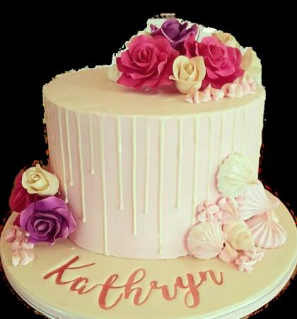 Drip cake with Sugar Roses