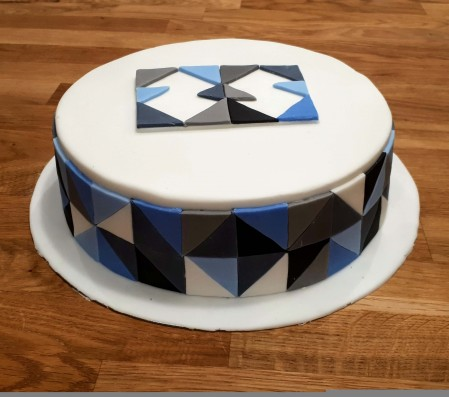 Father's Day Geometric Cake