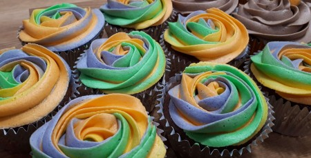 Father's day Rainbow Cupcakes