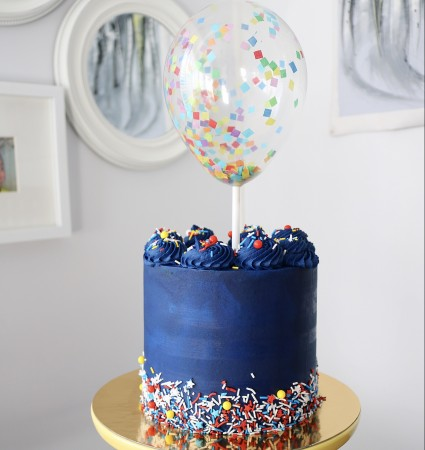Funfetti balloon layer cake