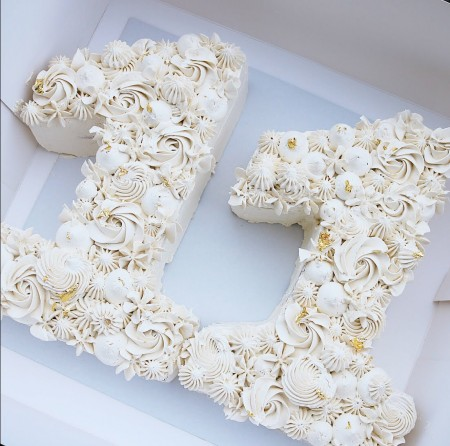 Buttercream number cake
