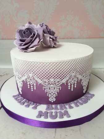 Ombre Lace Cake - 8