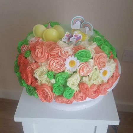 Unicorn Garden Cake
