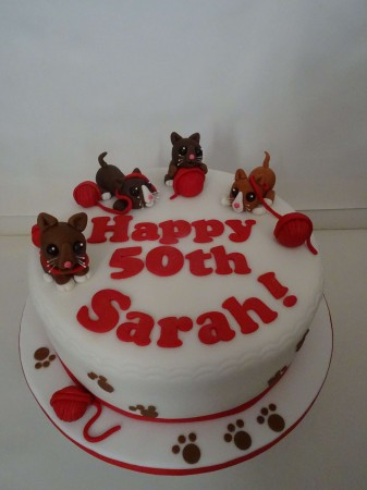 Cat Themed Celebration Cake