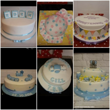 Christening cakes/ baby shower/ reveal