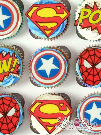 Assortment of Superhero Cupcakes