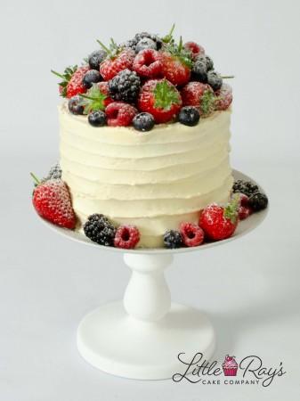 Buttercream Swirl Cake with Fresh Berries